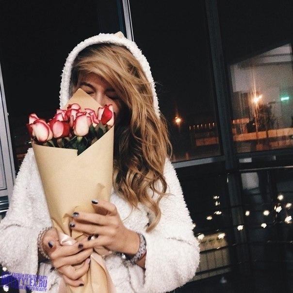 девушки цветами на аватарку