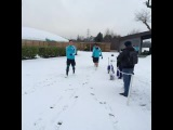 John Terry leads the Blues out to training at a snowy Cobham... #CFC #ChelseaFC