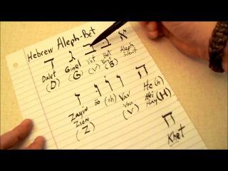 Hebrew Language - HEBREW Alphabet (Aleph-Bet) - אָלֶף Aleph א to י Yud - Part 1