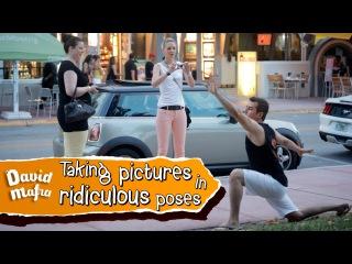 Taking pictures in ridiculous poses | Tirando foto com poses ridículas