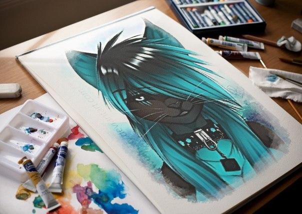 картинки волки аниме люди