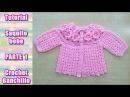 DIY Como tejer saquito sueter chaqueta chambrita para bebe en crochet ganchillo 1 4