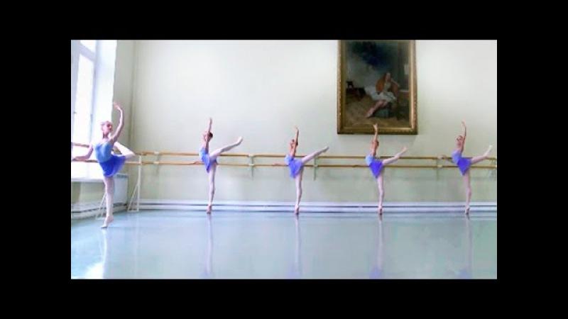 Vaganova Ballet Academy. Barre, Classical Dance Exam. Girls, 4th class. 2015