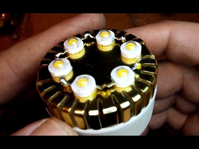 Самодельная светодиодная лампа 6W.