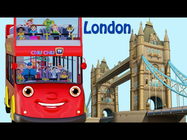 Wheels On The Bus Go Round And Round Song | London City