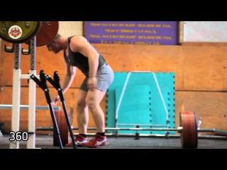 Konstantin Pozdeev training the deadlift and bench press