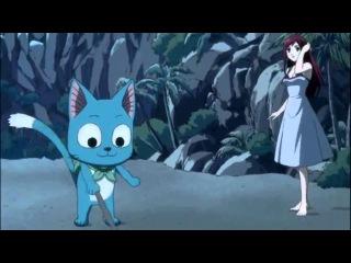 Fairy Tail Happy trolling Erza