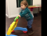 Evie is walking