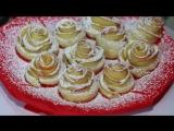 Ну, оОчень вкусный Десерт - Розочки из Слоеного теста! [HD, 720p]