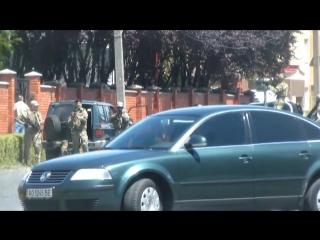 Оперативне відео з подій на базі _Антарес_ в Мукачево 11 липня 2015 року