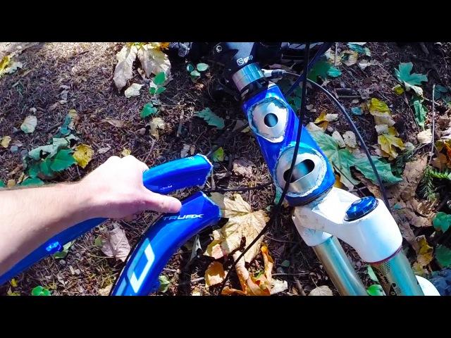 DESTROYED BIKE FRAME - Big Crash Norco mtb into tree GO PRO | Jordan Boostmaster