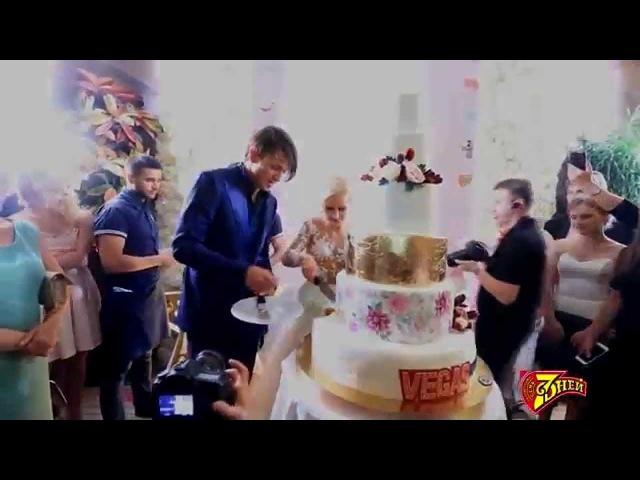 Лучшие моменты свадьбы Татьяны Волосожар и Максима Транькова