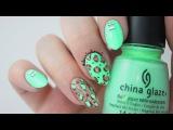 Birthday Mani | Neon Mint Leopard Print Tutorial