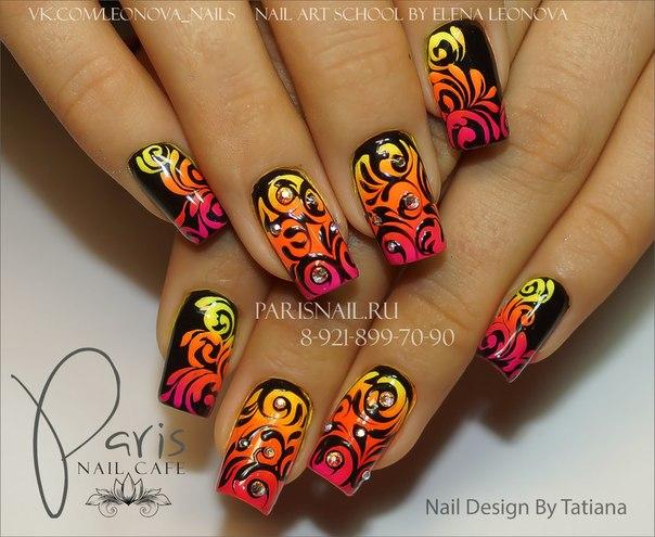 Пигмент дизайн на ногтях