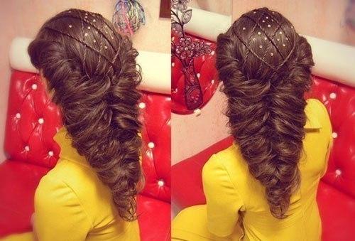 Прически на праздник на длинные волосы своими руками для девочек