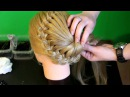 Плетение косичек - Ажурная коса с цветком из волос / Pretty haircut