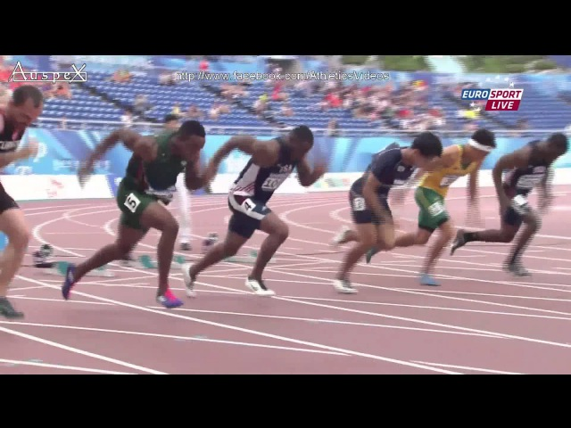 Akani Simbine PB 9.97 (0.0m/s) 100m men final Gwangju Universiade 2015