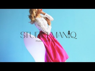 Платье с пышной юбкой и верхом, выполненным из кружева от STUDIO MANIQ