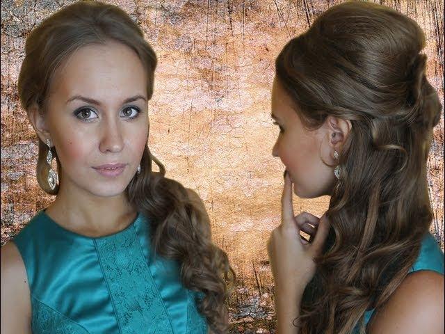 Идея для вашего образа: ПРИЧЕСКА (для длинных волос). Запрос (Образ со свадьбы. Подружка невесты)