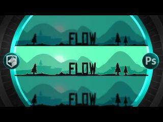 2D Silhouette Banner   Photoshop Tutorial   Flow Graphics