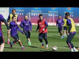 First team training session before FC Barcelona-Almeria 07/04/2015