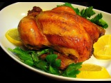 Курица с мандаринами запеченная в духовке