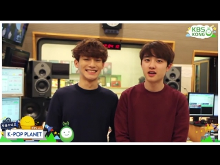 [VIDEO] 150505 Chen & D.O @ KBS-R Cool FM K-Pop Planet preview