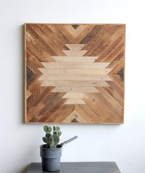 Панно из дерева для декора стены