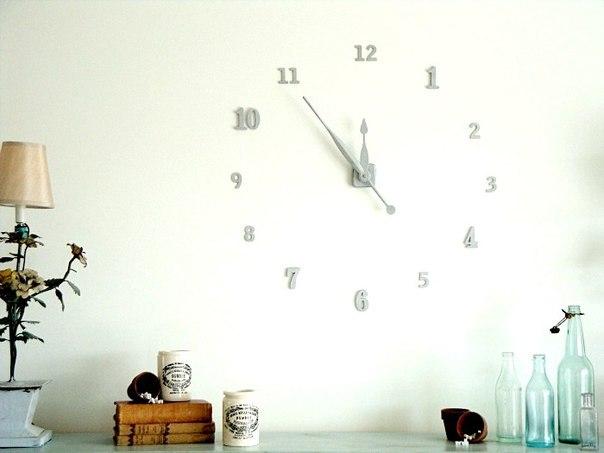 Часы на стене - креативное украшение интерьера