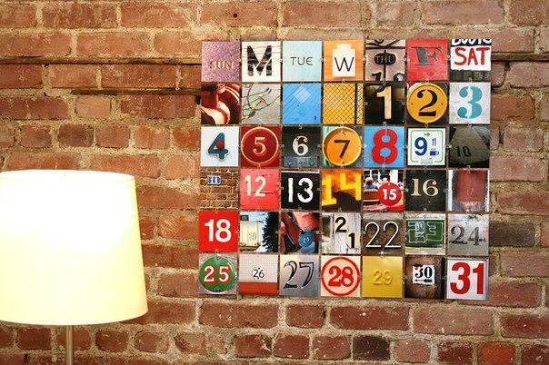 Календарь на стену своими руками - декор