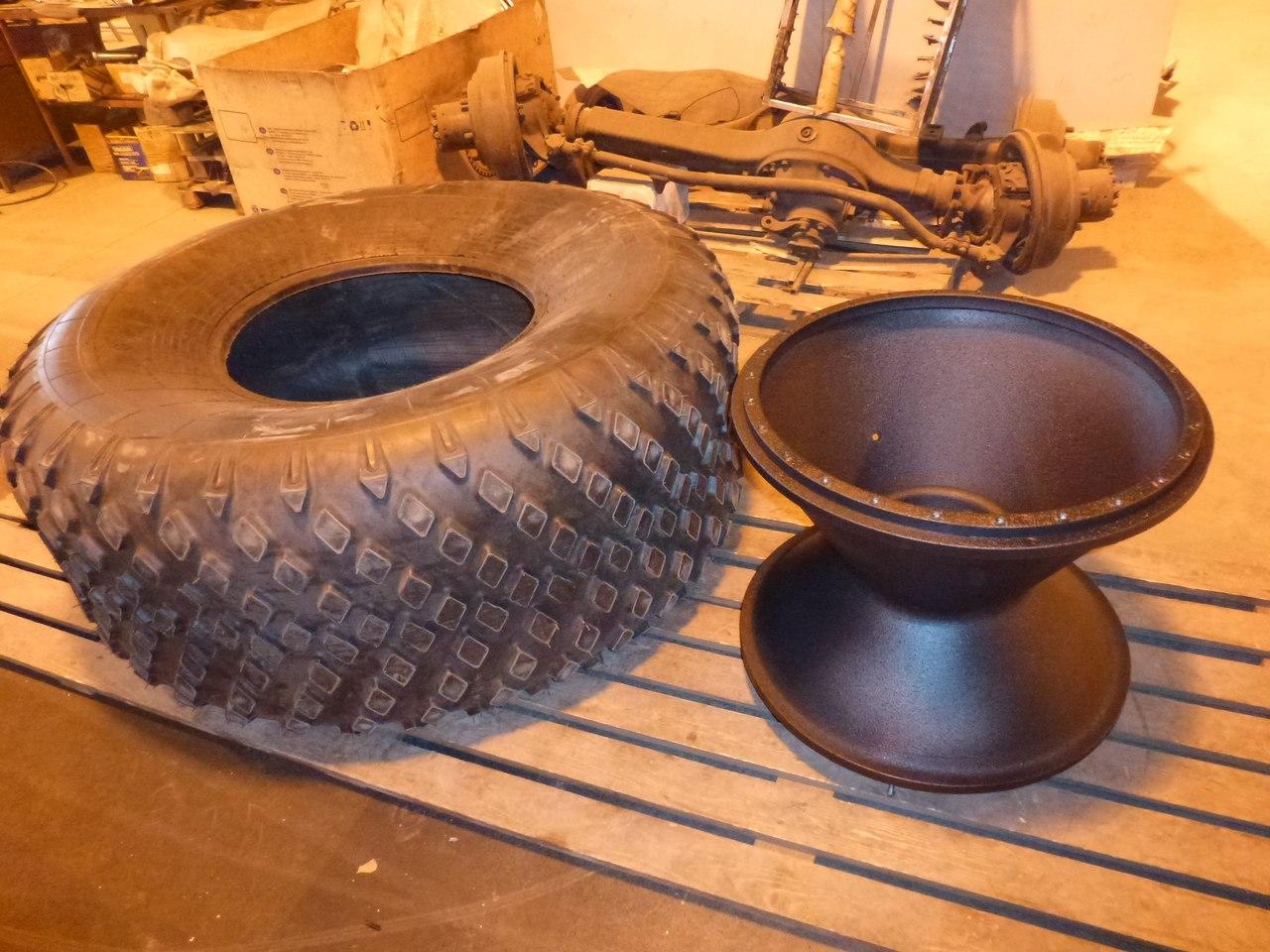 Как сделать колеса низкого давления своими руками, диски 100