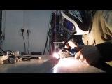 Аврора Спидвей 175 сварка алюминия ТИГ DC на обратной полярности.