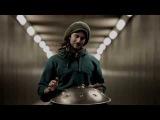 Solo Hang Drum in a Tunnel Daniel Waples - Hang in Balance London - England HD
