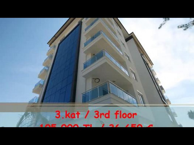 ALANYA AVSALLAR DA SIFIR BİNADA DAİRE-İLETİŞİM 02425190059 - Dailymotion video