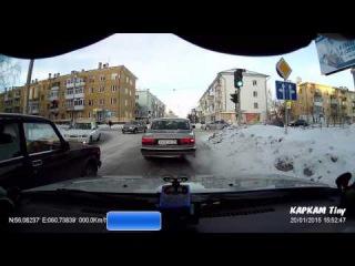 Очередная езда на красный - Снежинск 20 января 2015