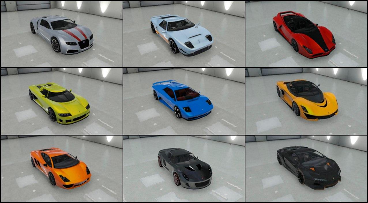 Транспорт GTA V  спорткары  GTA RiotPixels
