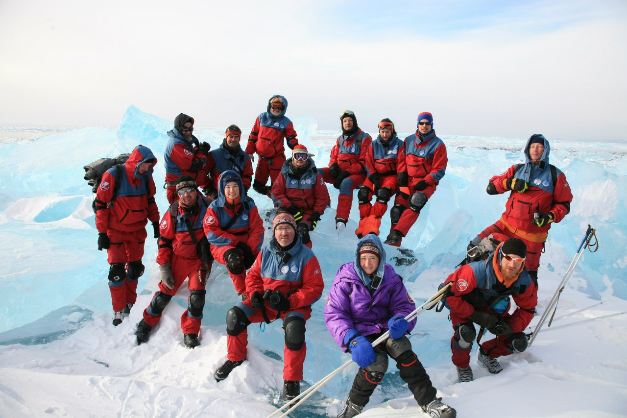 Зимний коньковый поход по Байкалу фирмы ВЕК 2015