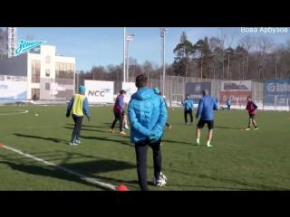 Первая тренировка Андре Виллаш-Боаша