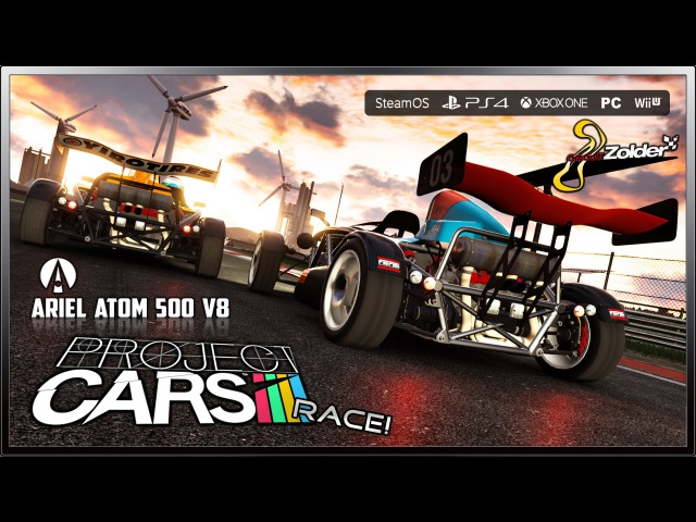 Project CARS Race Ultra Settings Ariel Atom 500 V8 @ Circuit Zolder