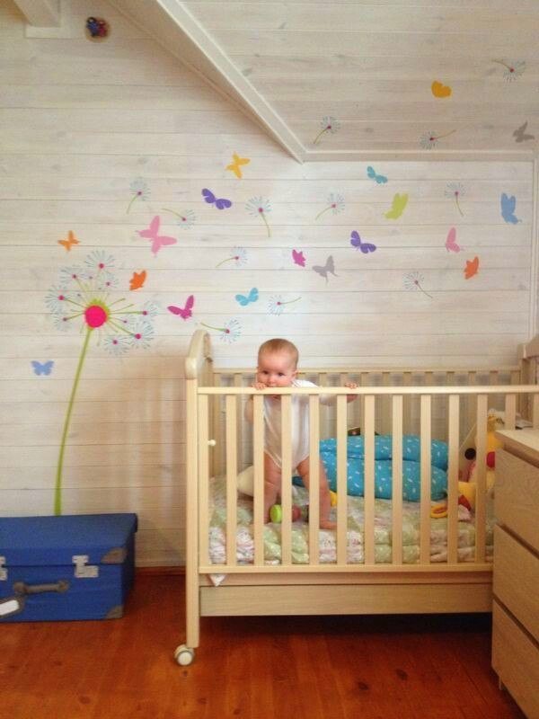 фото наклейка яркий одуванчик в детскую комнату DesignStickers