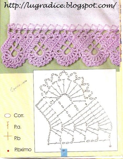 Delicadezas en crochet gabriela 5 modelos de puntillas - Puntas de ganchillo ...