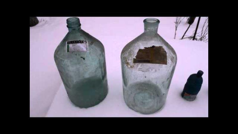 Как отмыть бутыли для вина