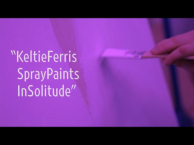 Keltie Ferris Spray Paints in Solitude New York Close Up Art21
