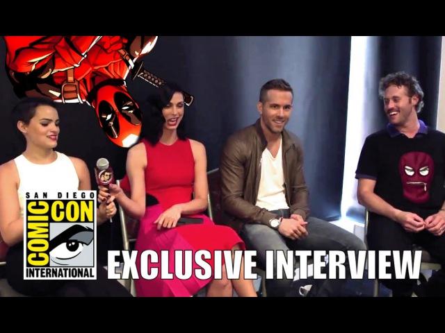Ryan Reynolds Morena Baccarin TJ Miller Brianna Hildebrand's DEADPOOL Interview HD SDCC 2015