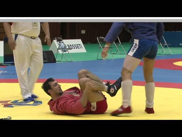 GASIMOV Amil (AZE) vs LEBEDEV Ilia (RUS) - World Sambo Championship 2014 in Japan