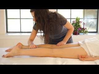 ASMR Leg & Feet Massage; Swedish Massage Therapy Techniques For Back Rubs; F...