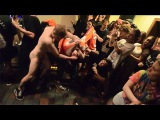 naked guy punching people in the mosh pit