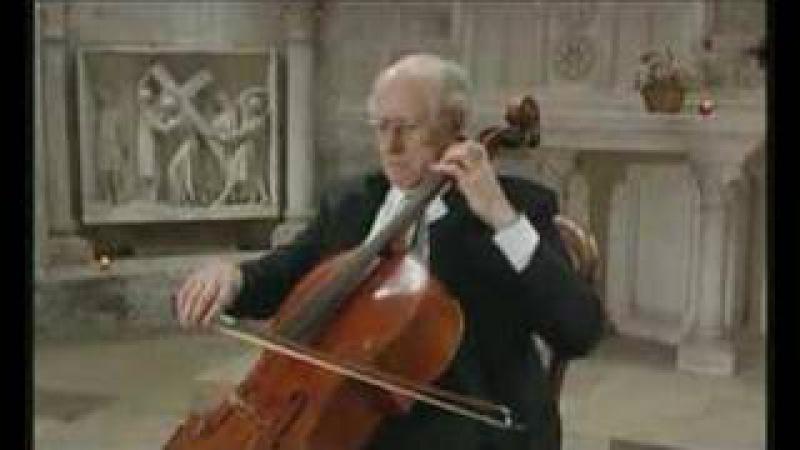 Rostropovich plays the Prelude from Bach's Cello Suite No. 5