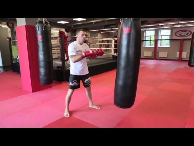 Боковые удары в Боксе с Андреем Басыниным: как поставить боковой удар рукой на мешке