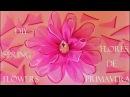DIY flores de primavera en cintas de organza - spring flowers in organza ribbons